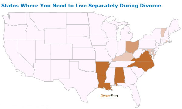 States Where You Need to Live Separately During Divorce
